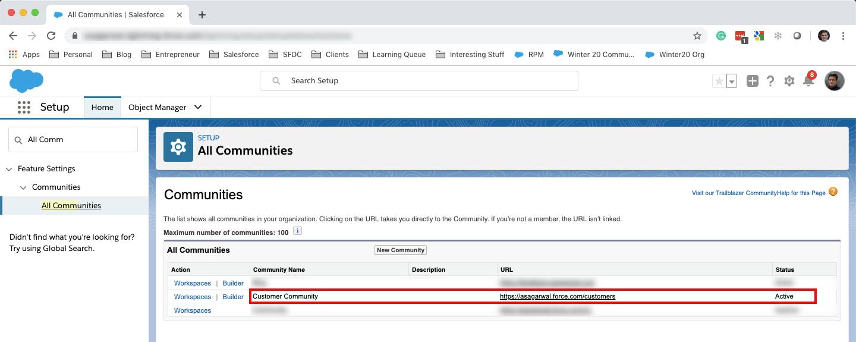 Custom Domain Salesforce Community