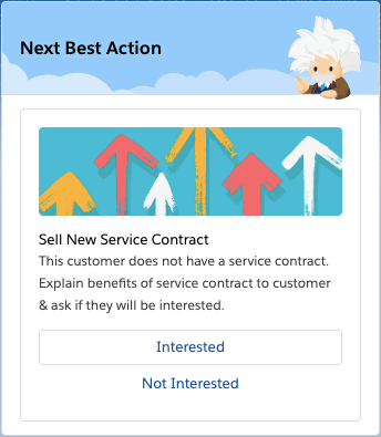 Salesforce Einstein Next Best Action