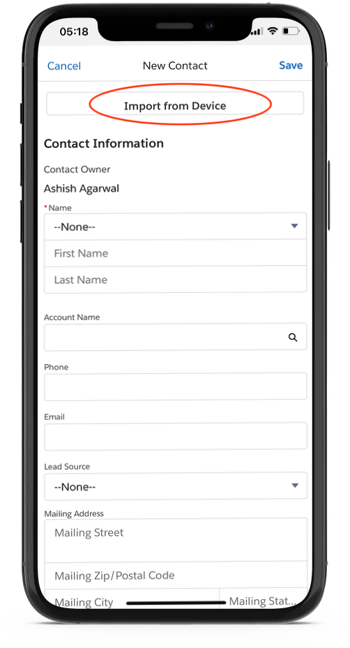 How to Import Contacts in Salesforce From Mobile Device & Google Contacts