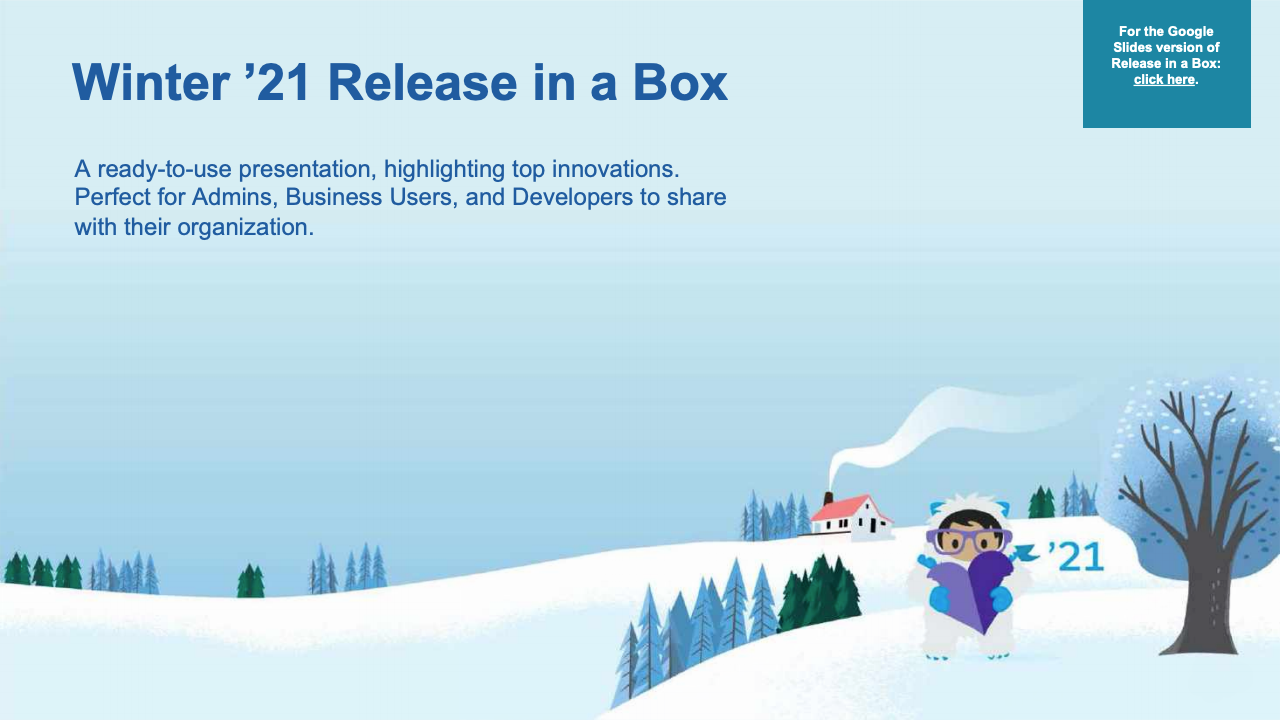 Salesforce Winter '21 Release in a Box