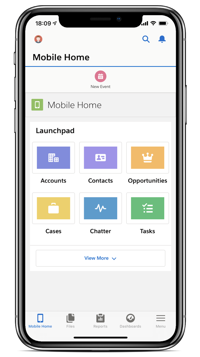 salesforce mobile launchpad