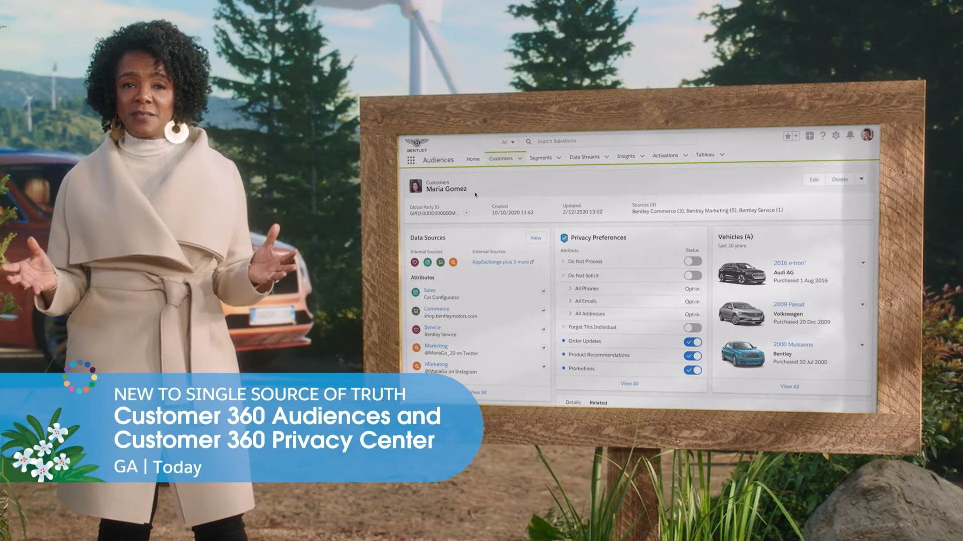 customer 360 audiences and customer 360 privacy center