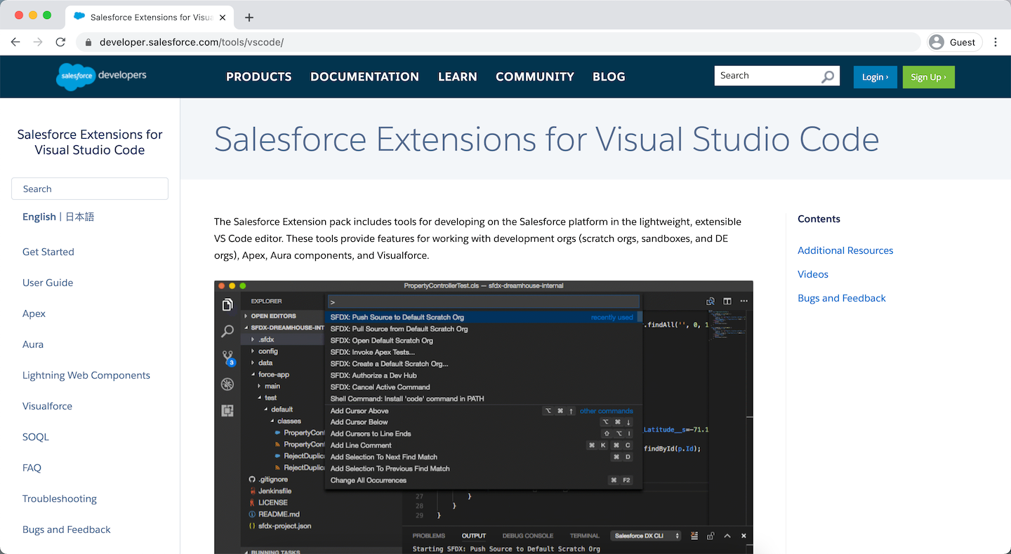 Salesforce Extensions for Visual Studio Code