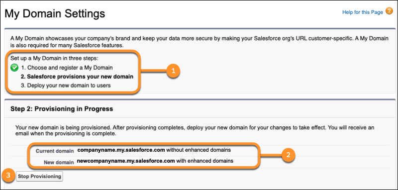 Rename & Manage My Domain in Salesforce