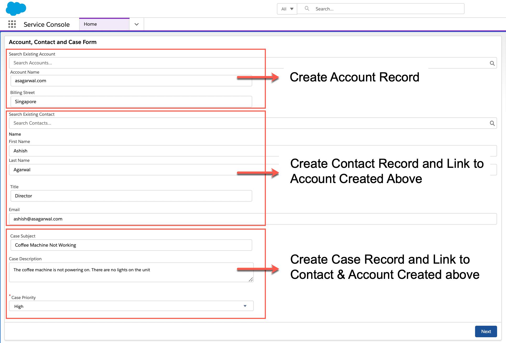 Screen flow in Salesforce