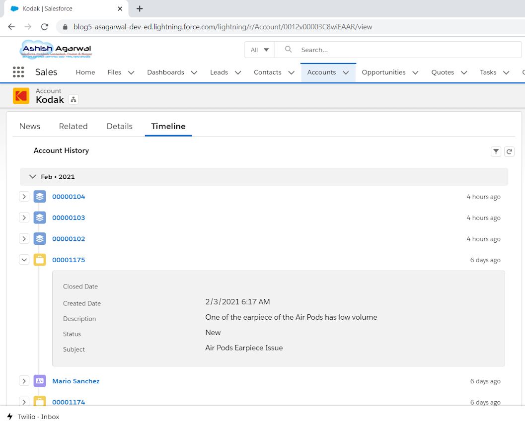 Salesforce View Child Records in a Timeline