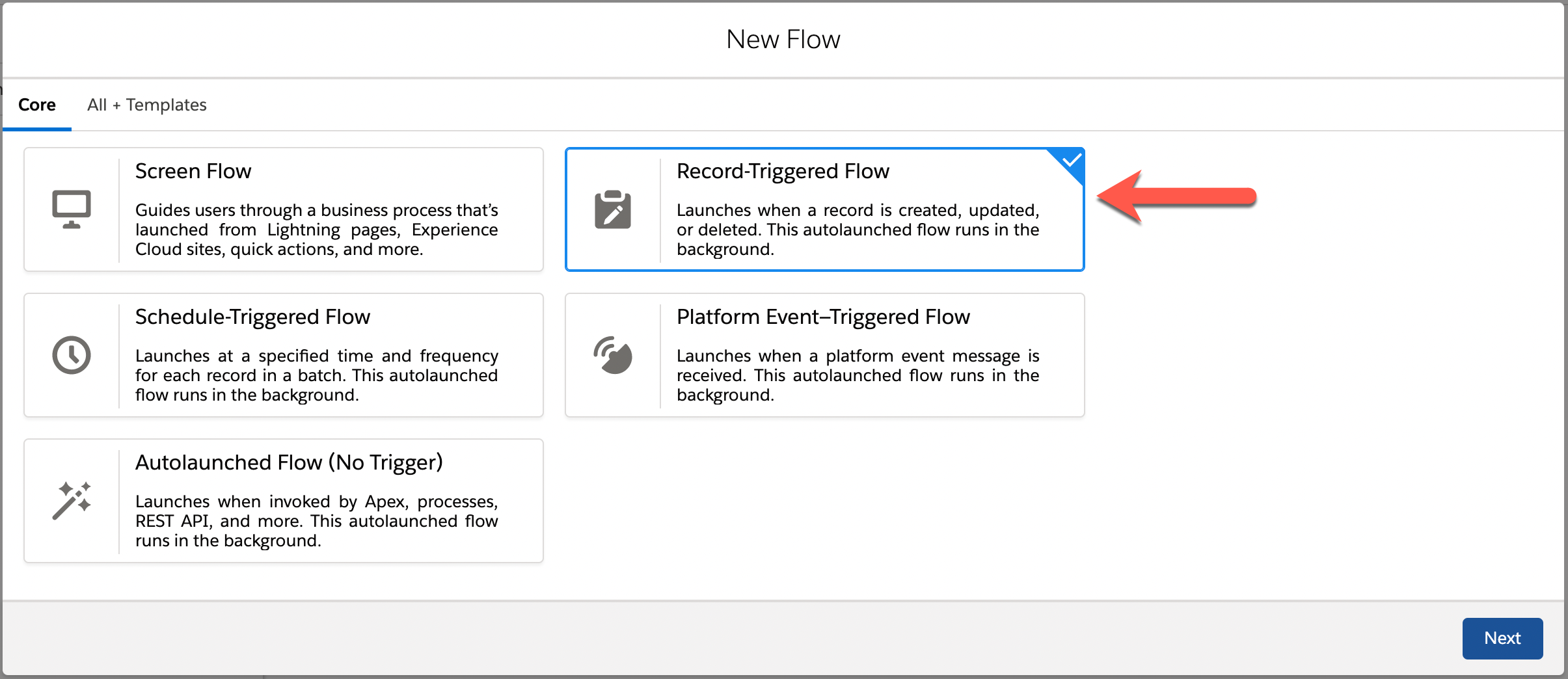 salesforce record triggered flow