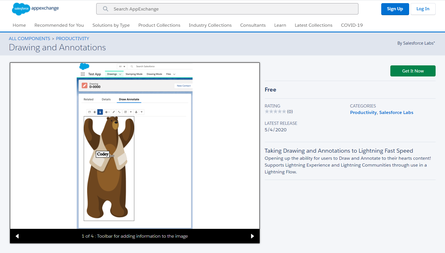 Drawing and Annotations AppExchange Component