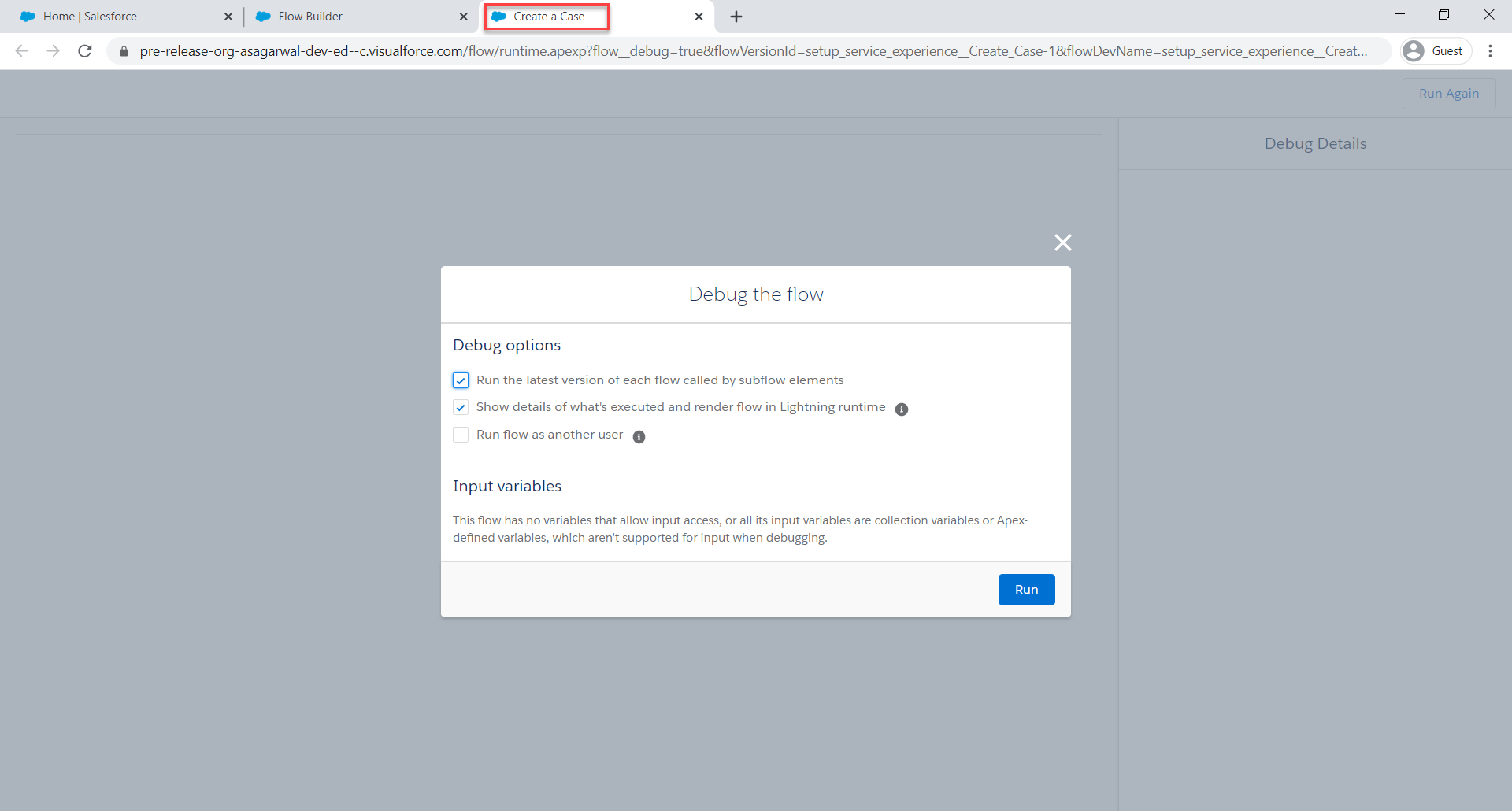 View Flow Label in Browser Title from Debug or Flow Runtime