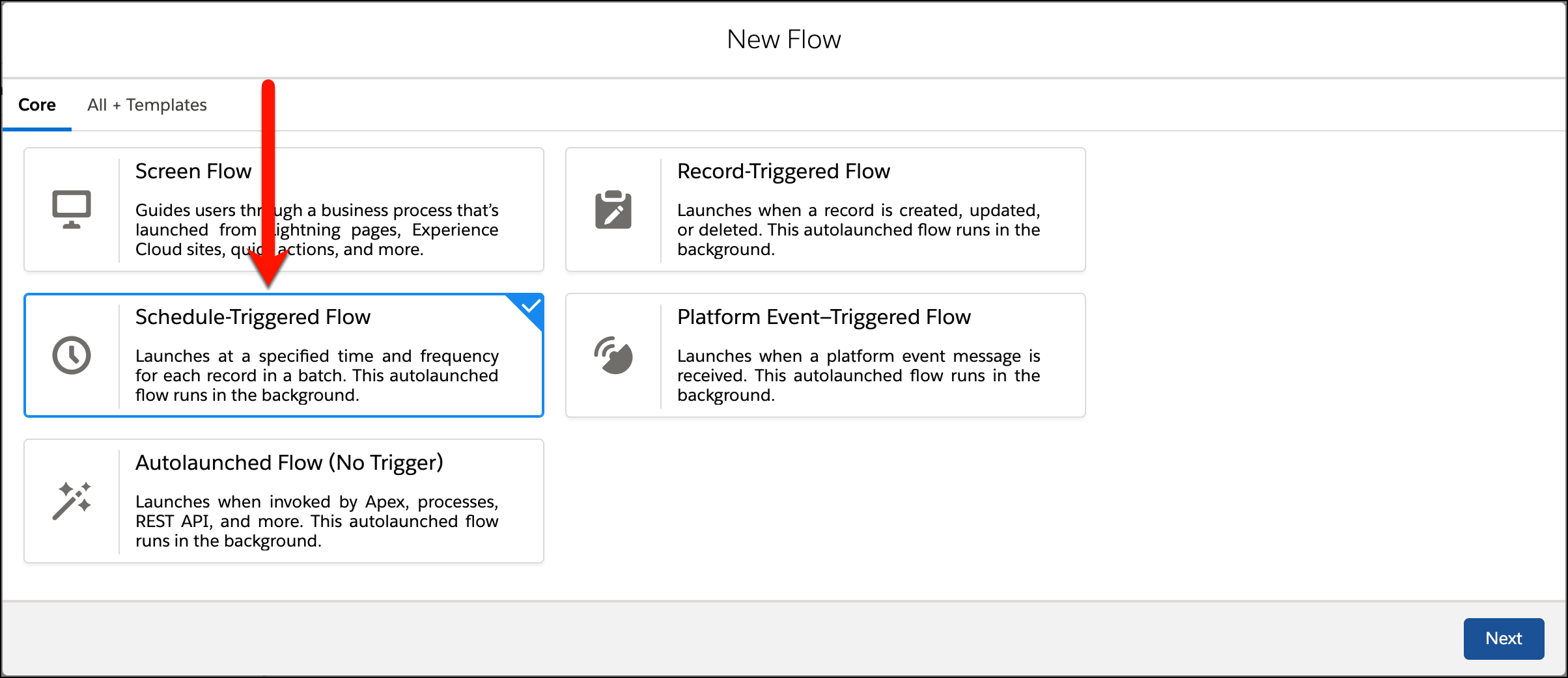 Schedule Triggered Flow in Salesforce