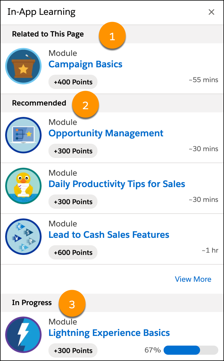 Trailhead Learning Experience Inside the Salesforce App