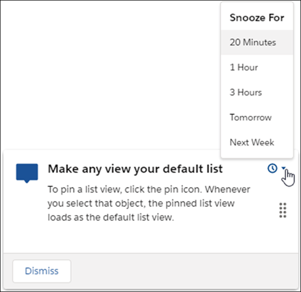 Snooze In-App Guidance