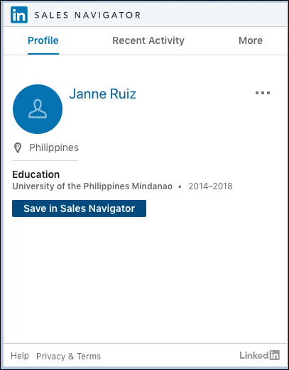Native Integration with LinkedIn Sales Navigator