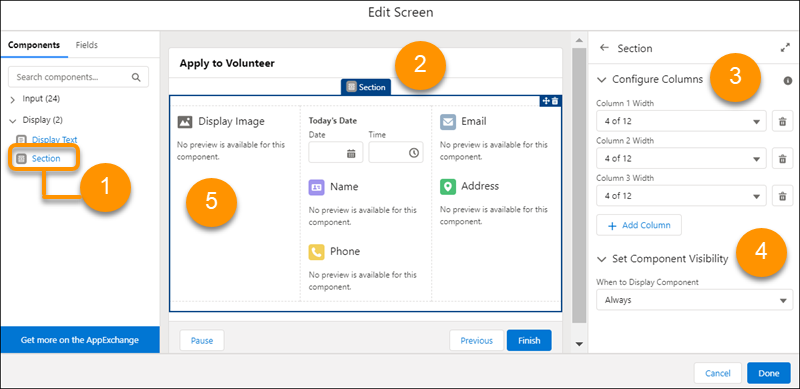 Build Multicolumn Screens in Flow Builder