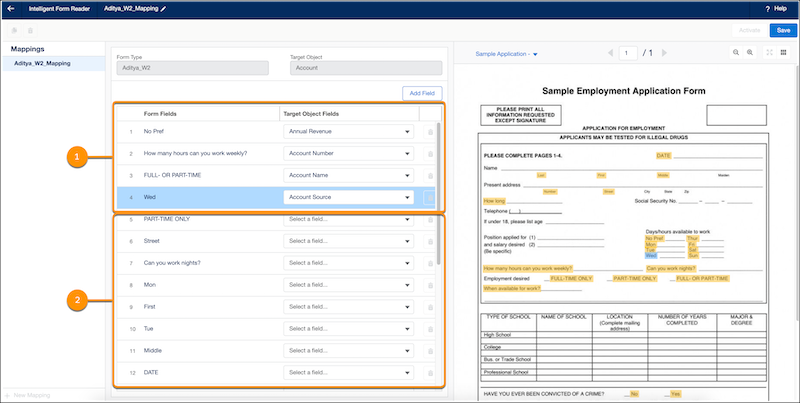 Save Your Partially Mapped Form Fields in Intelligent Form Reader