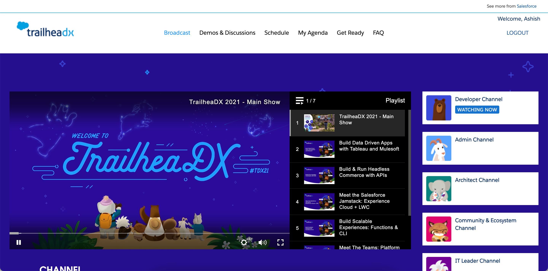 TrailheaDX 2021 TDX21 Recorded Videos