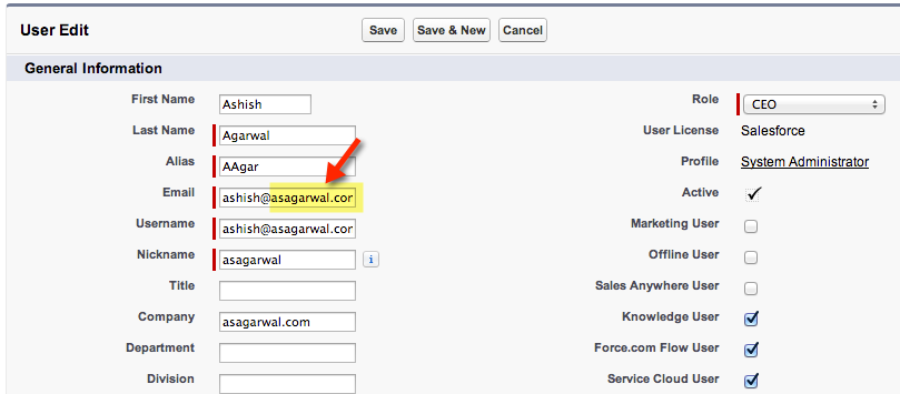 Restrict email domain in users email addresses