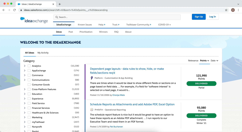 Salesforce IdeaExchange Gets a Makeover