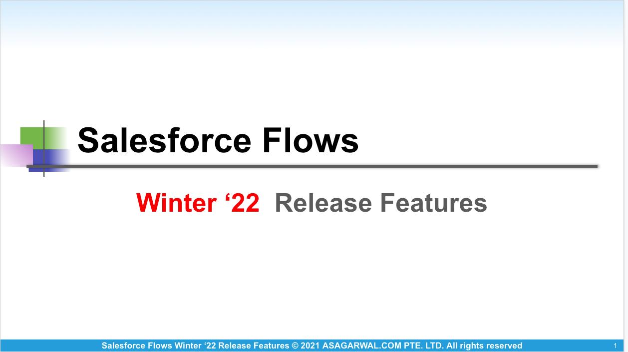 Salesforce Flows Winter 22 Release Features