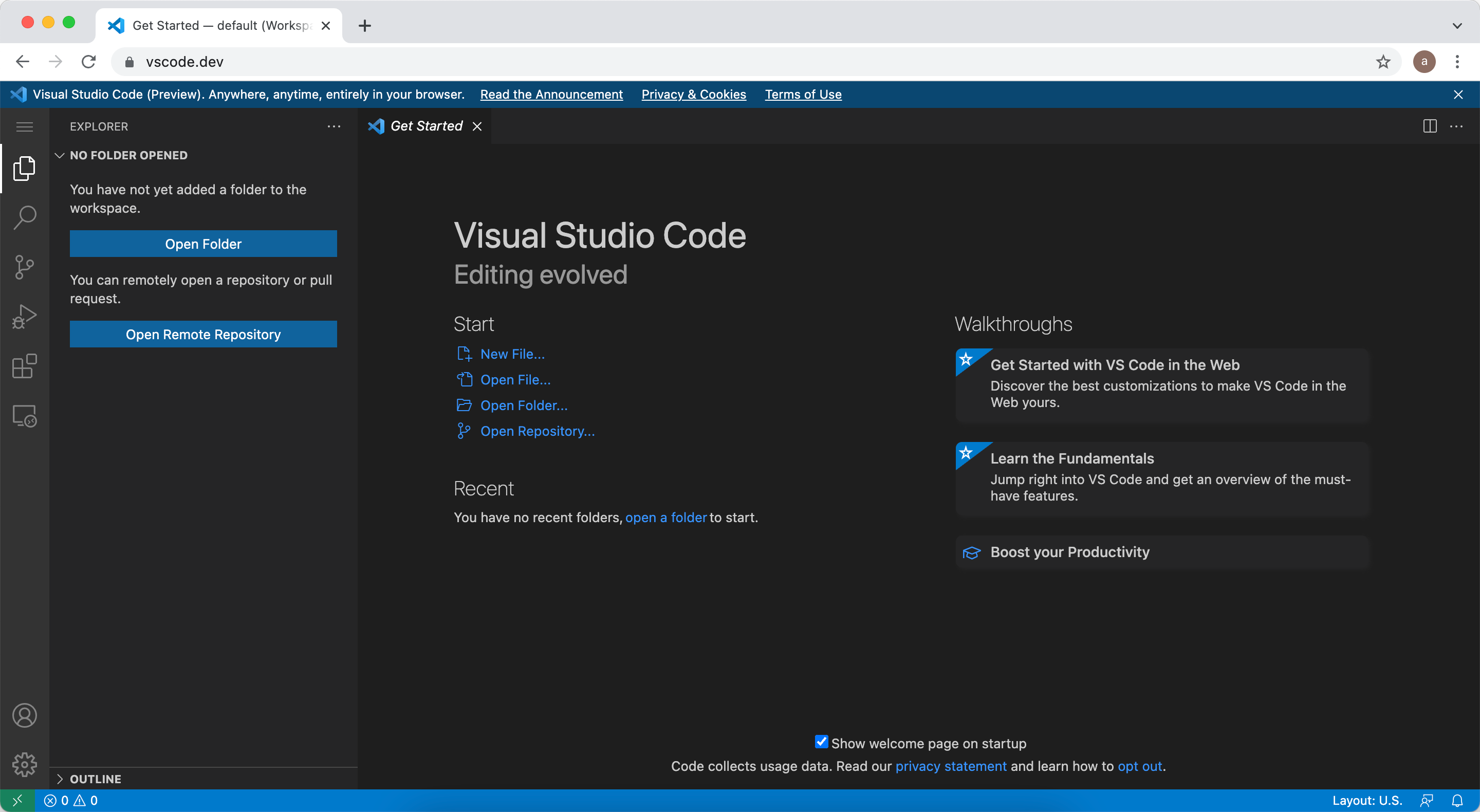 Visual Studio Code (VSCode) Now Available in Browser